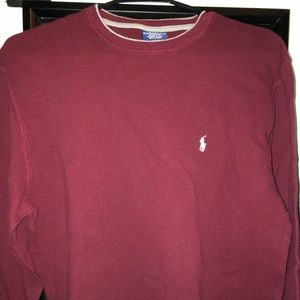 Men's Polo thermal Maroon size Large
